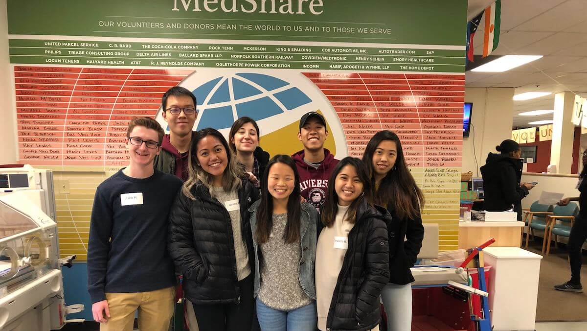 Bits of Good (Georgia Tech chapter) members volunteering at Medshare